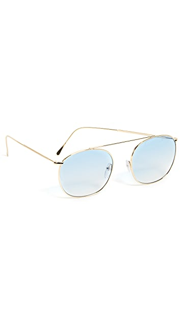 Illesteva Mykonos II Gold Sunglasses