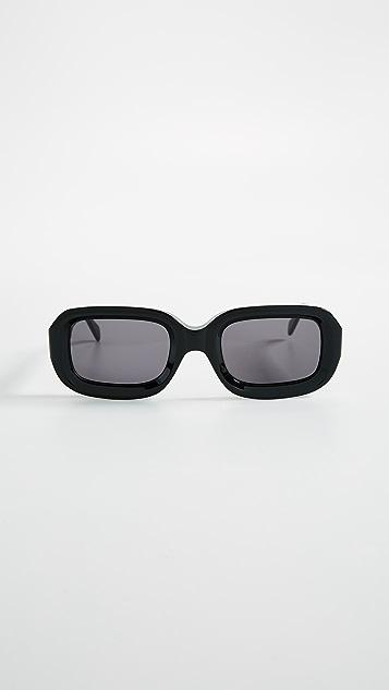 Illesteva Vinyl Sunglasses - Black