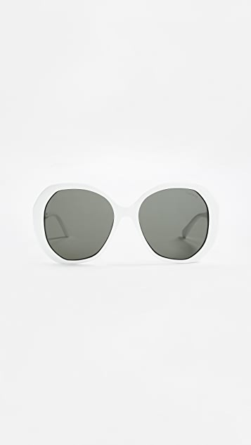Illesteva Manuela Sunglasses - White/Black