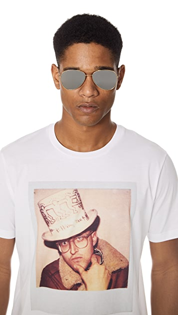 Illesteva Wooster Flat Lens Sunglasses
