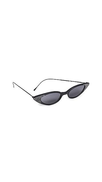 Illesteva Солнцезащитные очки с камнями Marianne