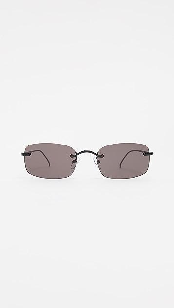 Illesteva Bovalino Rimless Rectangle Sunglasses