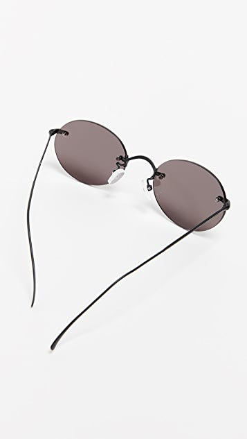 Illesteva Nicotera Small Rimless Sunglasses