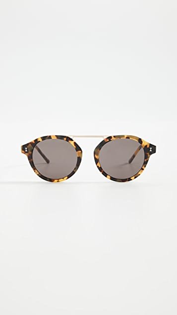 Illesteva Солнцезащитные очки Greenwich в черепаховой оправе