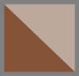 椰子白/棕色
