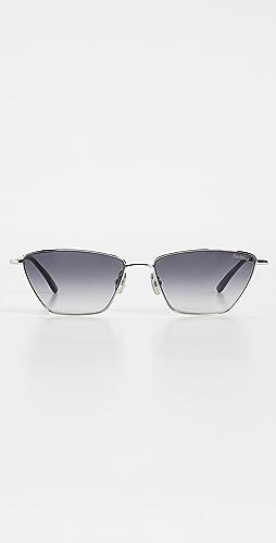 Illesteva - 灰色渐变镜片银色