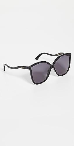 Illesteva - Nancy Black Sunglasses