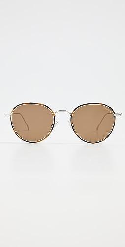 Illesteva - Jefferson Ace W/ Brown Flat Lenses