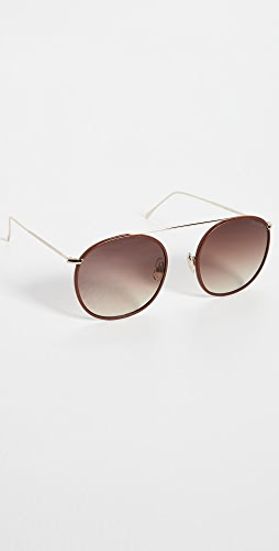 Illesteva - Mykonos III Leather Sunglasses