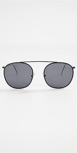 Illesteva - Mykonos III Leather Trim Sunglasses