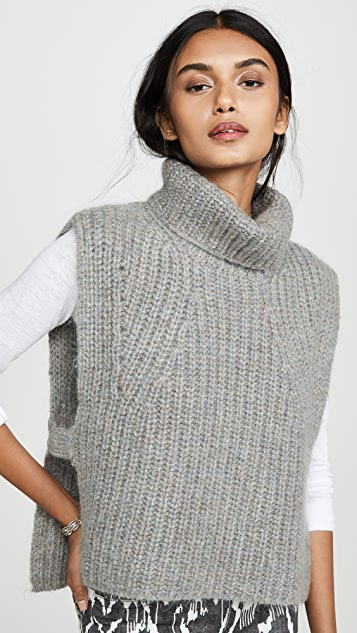 Isabel Marant Etoile Megan Sleeveless Turtleneck