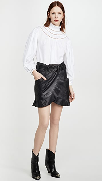 Isabel Marant Etoile Qing 皮半身裙