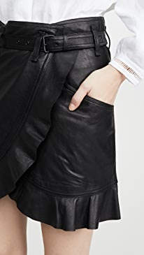 Qing Leather Skirt