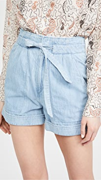 이자벨 마랑 에뚜왈 반바지 Isabel Marant Etoile Marius Shorts,Light Blue