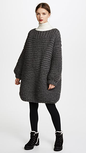 I Love Mr Mittens Maxi Sweater - Charcoal