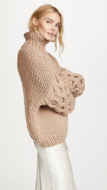 I Love Mr Mittens Honey High Neck Sweater