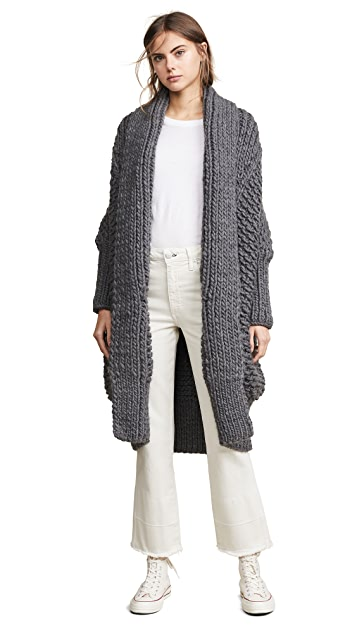 I Love Mr Mittens Pearl Stitch Cardigan