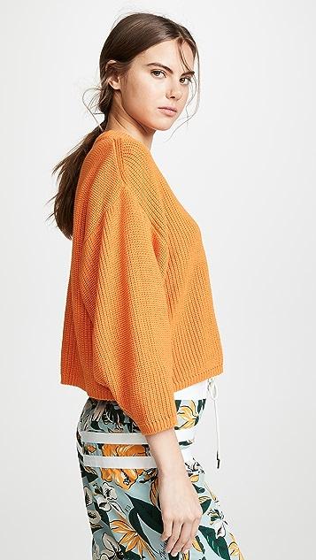 I Love Mr Mittens Укороченный пуловер с круглым вырезом