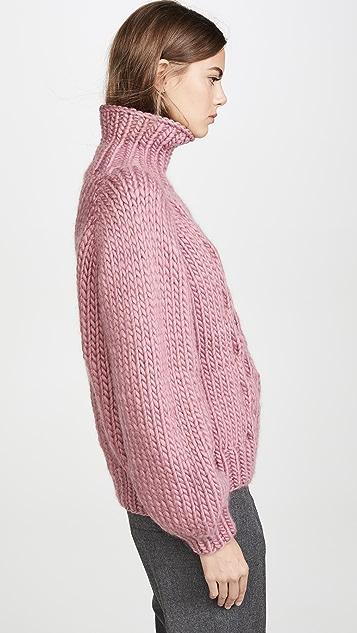 I Love Mr Mittens 蜂窝针织高领针织衫
