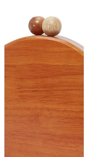 Inge Christopher Ornella Round Wood Clutch