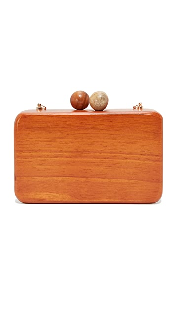 Inge Christopher Ornella Square Wood Clutch