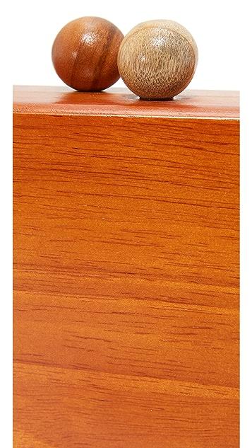 Inge Christopher Ornella Square Wood Clutch