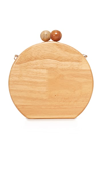 Inge Christopher Ornella Wood Clutch