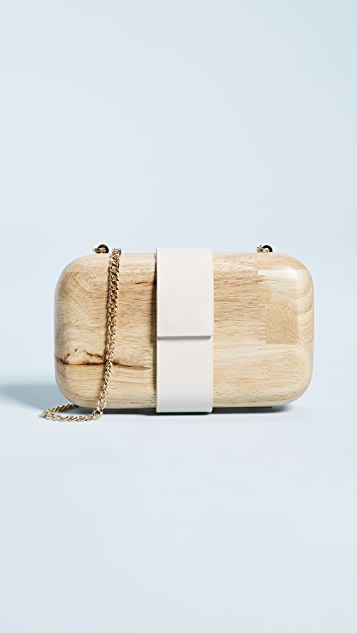 Inge Christopher Lucia Wooden Clutch - Natural