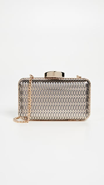 Inge Christopher Naples Box Clutch - Grey
