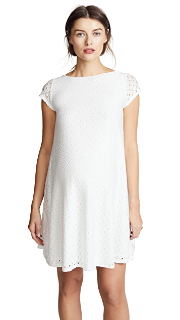Ingrid & Isabel Lace Maternity Swing Dress