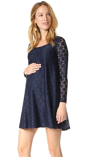 Ingrid & Isabel Dot Lace Maternity Dress