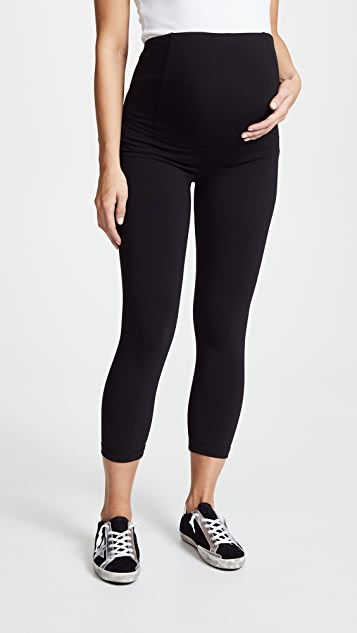 Ingrid & Isabel Active Maternity Capri Pants - Jet Black