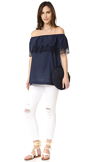 Ingrid & Isabel Off Shoulder Lace Top