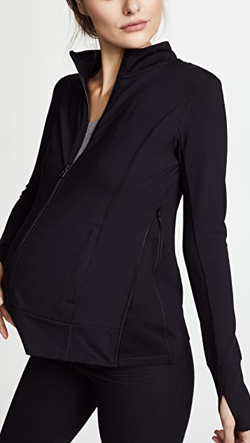 Ingrid & Isabel Active Side Zip Maternity Jacket