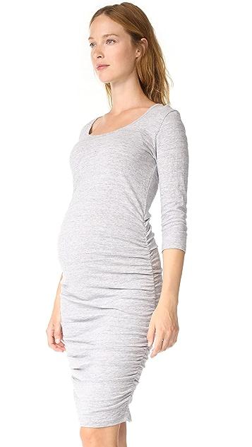 Ingrid & Isabel 3/4 Sleeve Shirred Maternity Dress