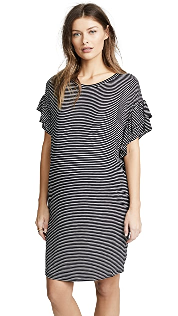 Ingrid & Isabel Ruffle Sleeve T-Shirt Dress