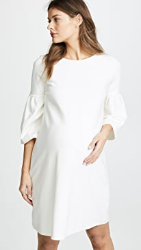 Ponte Bell Sleeve Dress