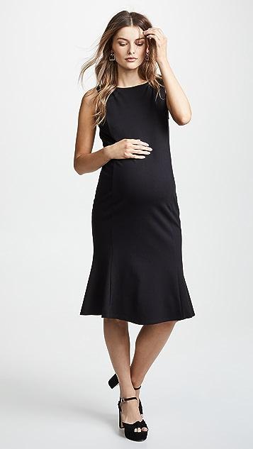 Ingrid Amp Isabel Tulip Hem Ponte Maternity Dress