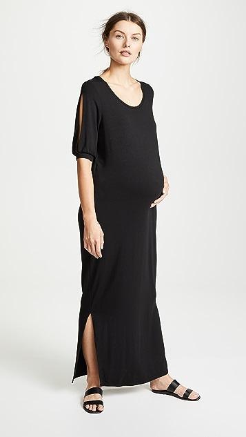9d30b54b1e3 Ingrid   Isabel Split Sleeve Maternity Maxi Dress