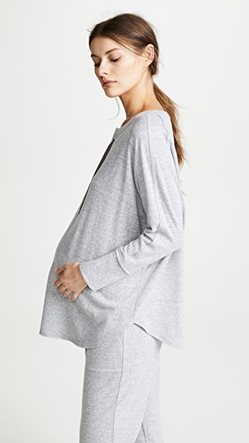 Ingrid & Isabel Lace Up Cocoon Maternity Top