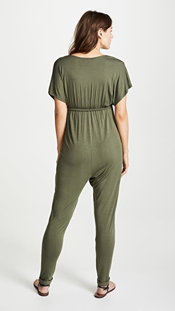 Ingrid & Isabel Maternity Cross Front Jumpsuit