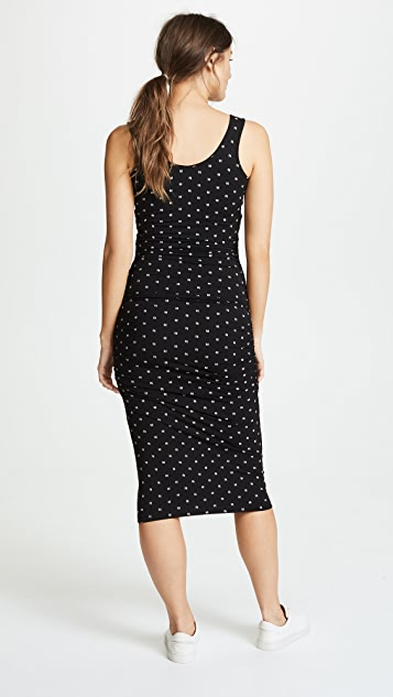 Ingrid & Isabel Side Shirred Midi Dress