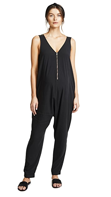 Ingrid & Isabel Zip Front Maternity Jumpsuit
