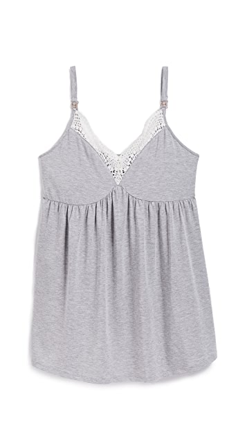 Ingrid & Isabel Maternity Lace Trim Sleep Cami