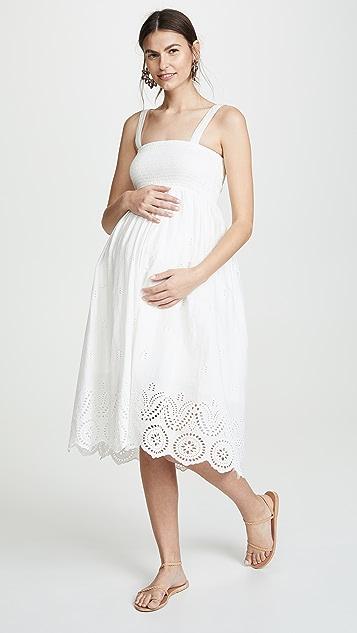 Ingrid & Isabel Embroidered Scallop Hem Dress