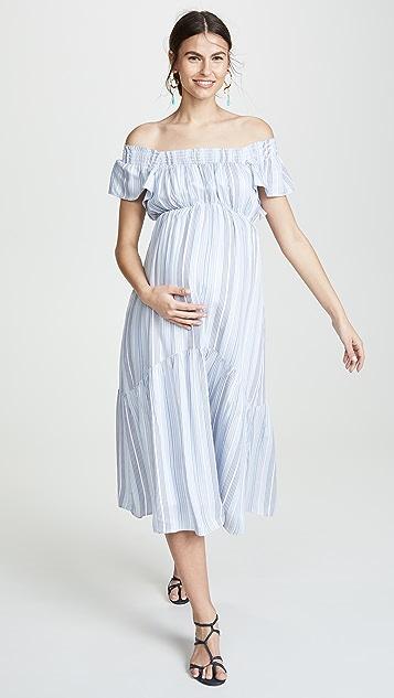 Ingrid & Isabel Flutter Sleeve Tiered Dress
