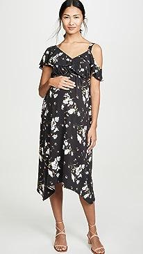 Asymmetric Ruffle Dress