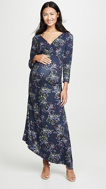 Ingrid & Isabel 3/4 Sleeve Asymmetrical Hem Dress