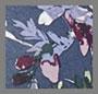 深海蓝叶子印花