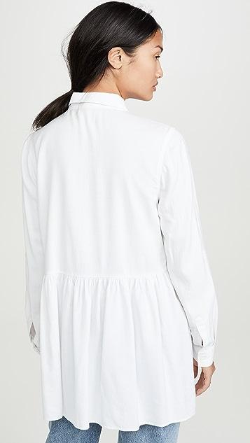 Ingrid & Isabel Peplum Button Down Shirt